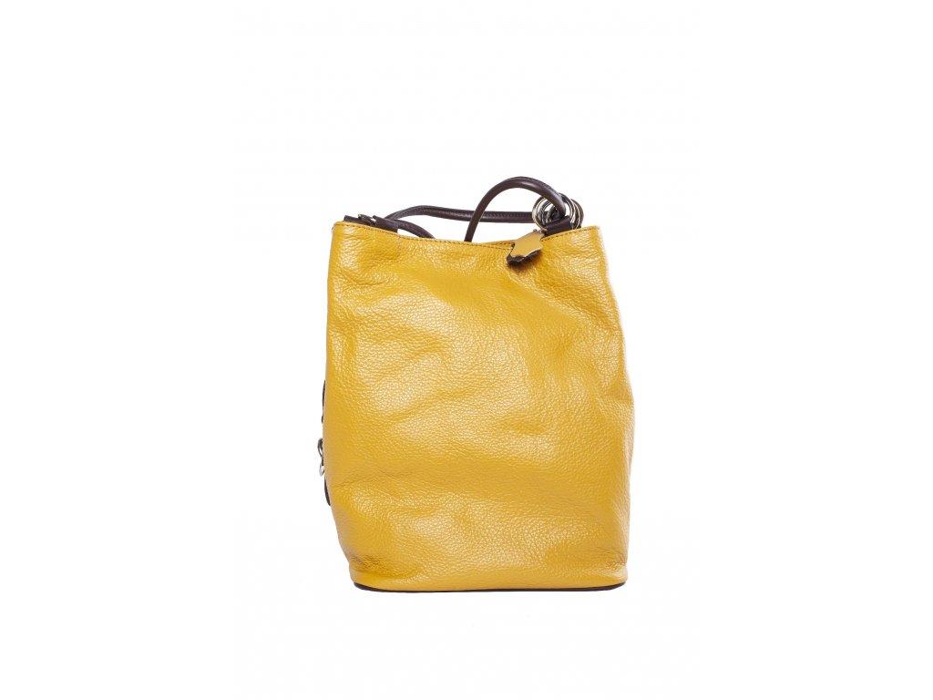 Žltá kožená kabelka