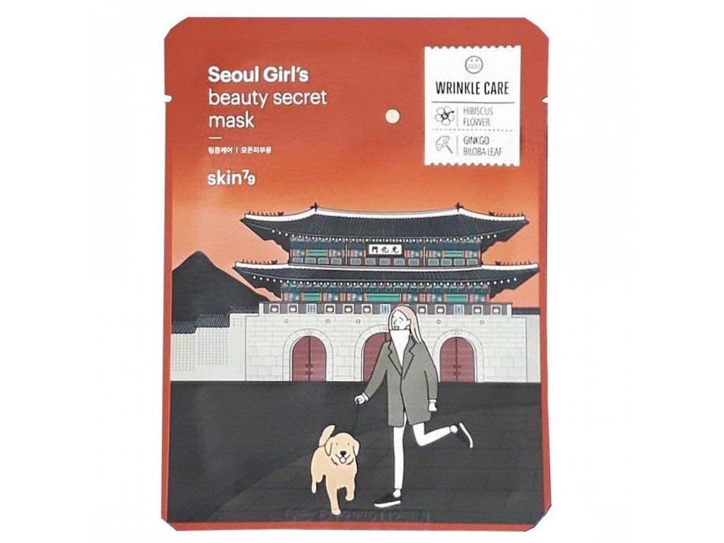 Seoul Girl's Beauty Secret - Wrinkle Care  Plátenná pleťová maska