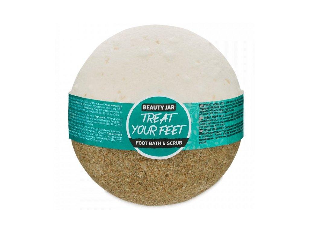 Beauty Jar - TREET YOUR FEET  Guľa do kúpeľa 250 g