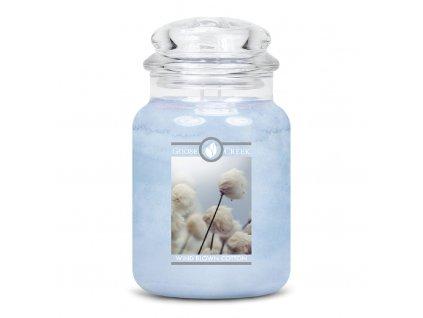 Goose Creek - Vetrom vyfúkaná bavlna  Aromatická sviečka v skle 680 g
