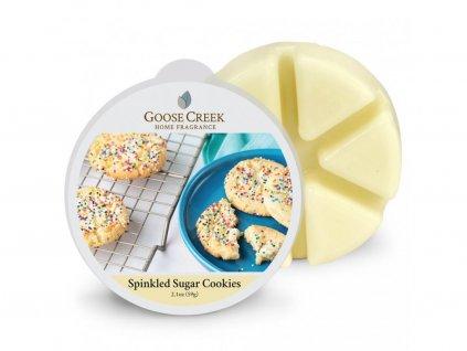 Sugar sprinkled cookies wax