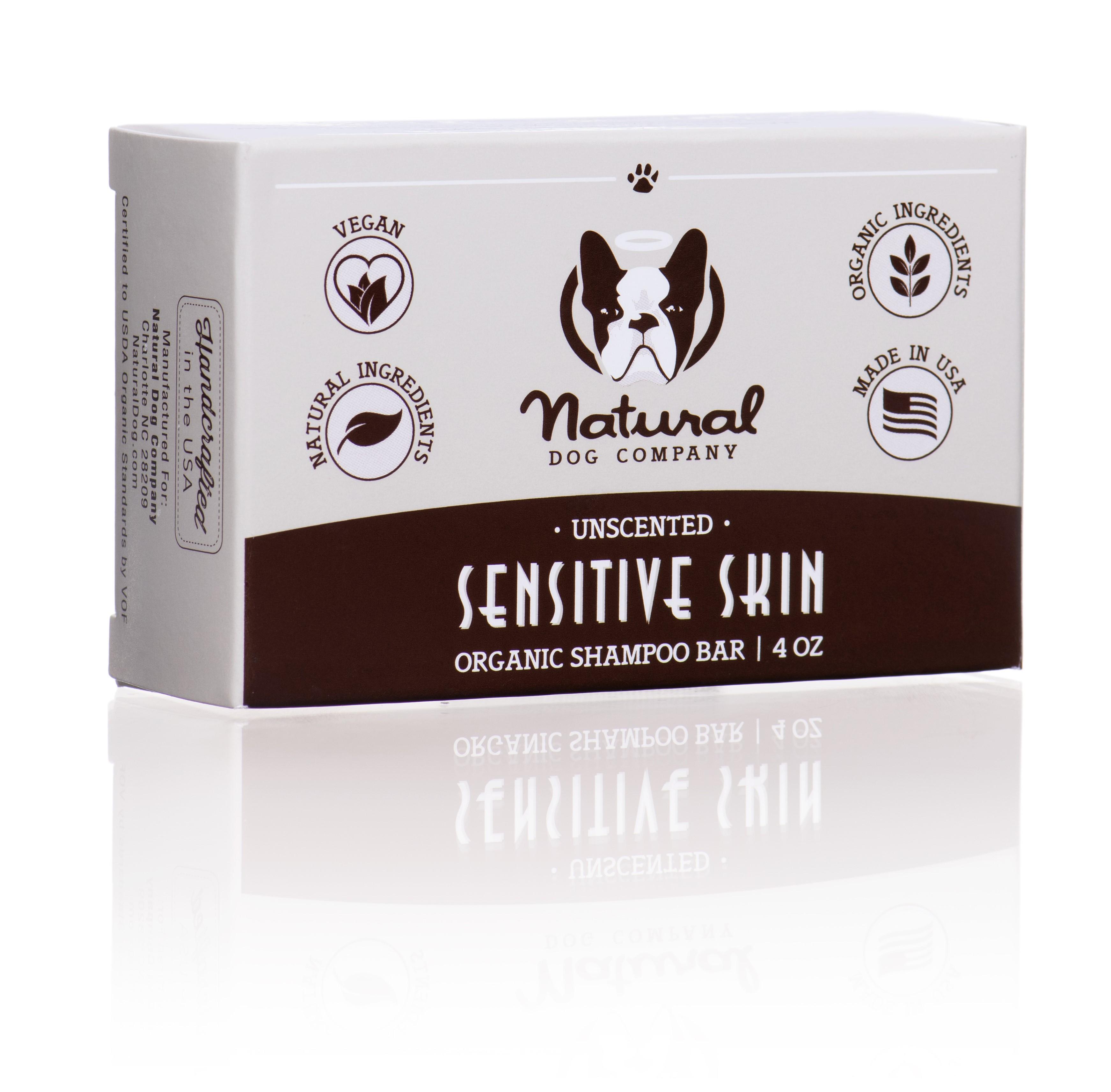 Natural Dog Company Sensitive skin - Psí šampon pro citlivou kůži Tuhý šampon pro psy 100g