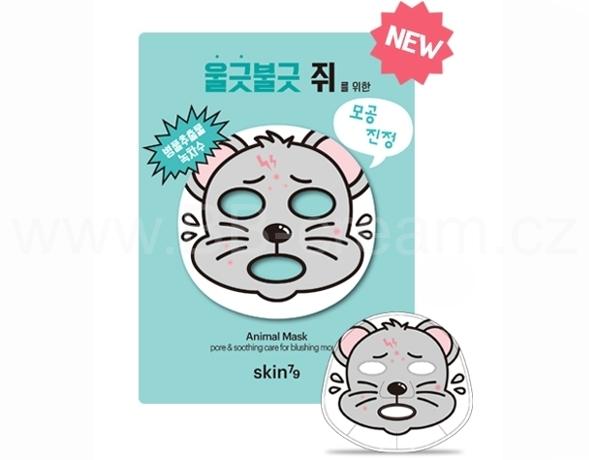 Animal Mask - Mouse Plátýnková pleťová maska