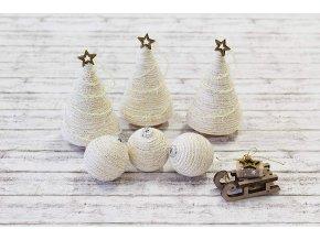 Vánoční ozdoby_stromečky a koule