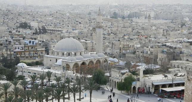 město Aleppo v Sýrii