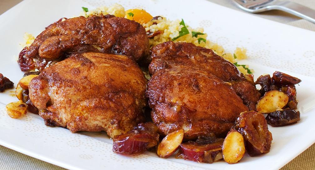 marocké kuře s arganovým olejem