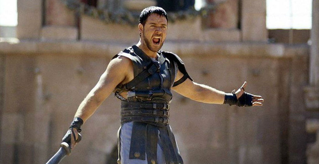 Russell Crowe ve filmu Gladiátor
