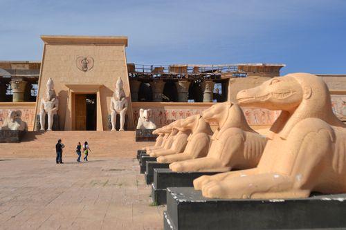 Kulisy z filmu v marockých ateliérech