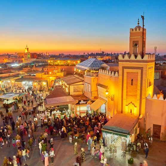 nejvyšší mešita v Marrakeši