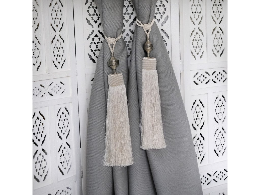 Orientální marocké třásně - slonovinové