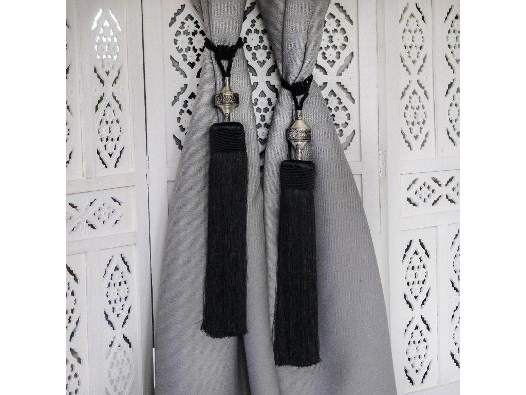 Orientální marocké třásně - Siyah