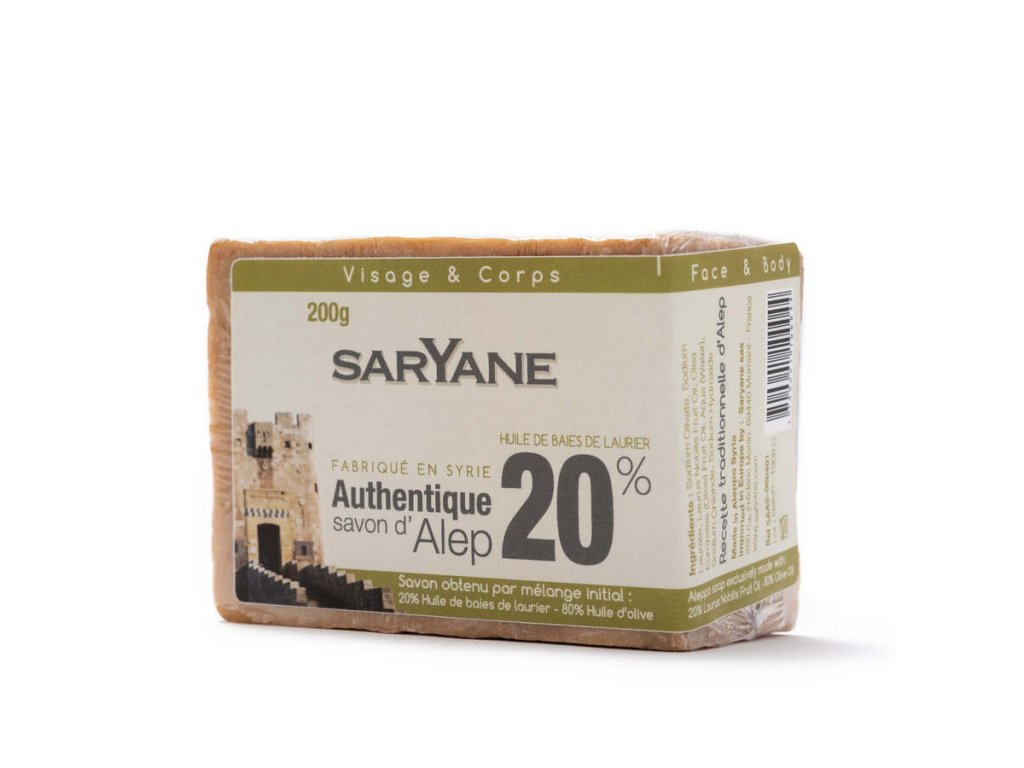 Mýdlo Aleppo 20% - Saryane 200g