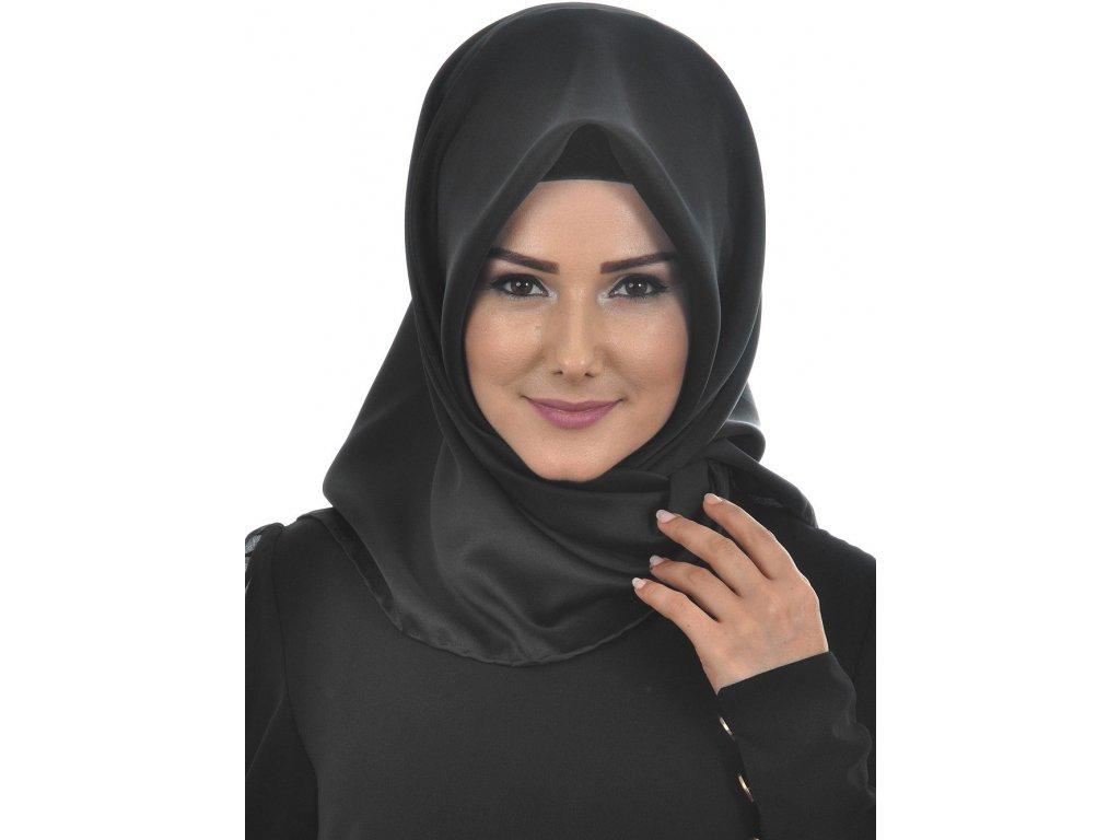 Šátek Hijab - Siyah