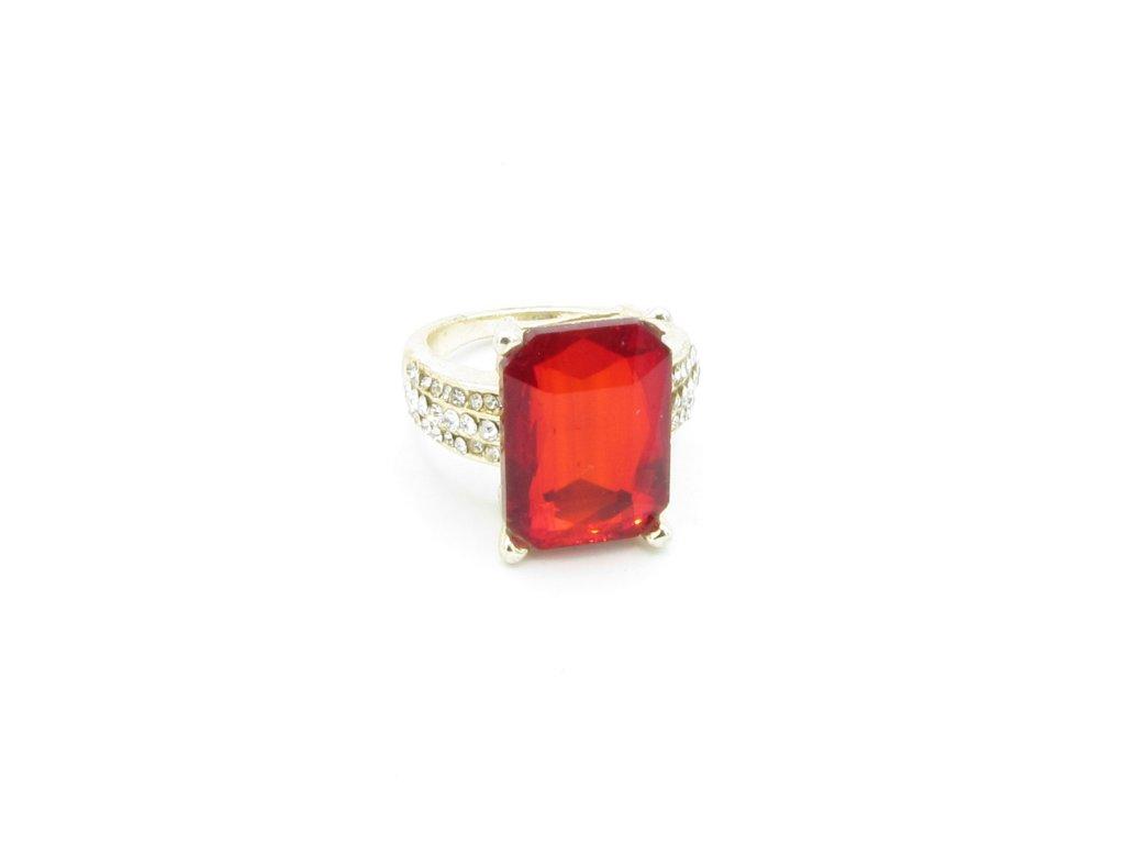 Prsten - Nisan - červený