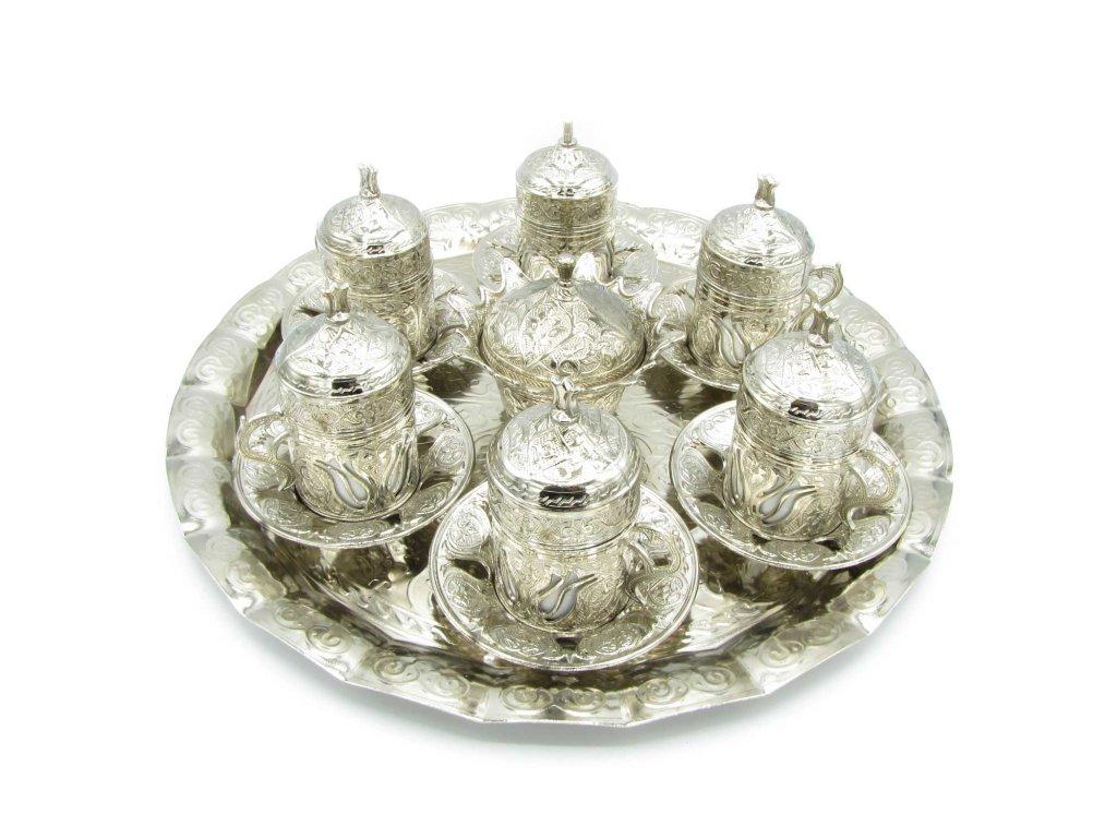 Tradiční turecký set na kávu pro 6 osob - Zarivar