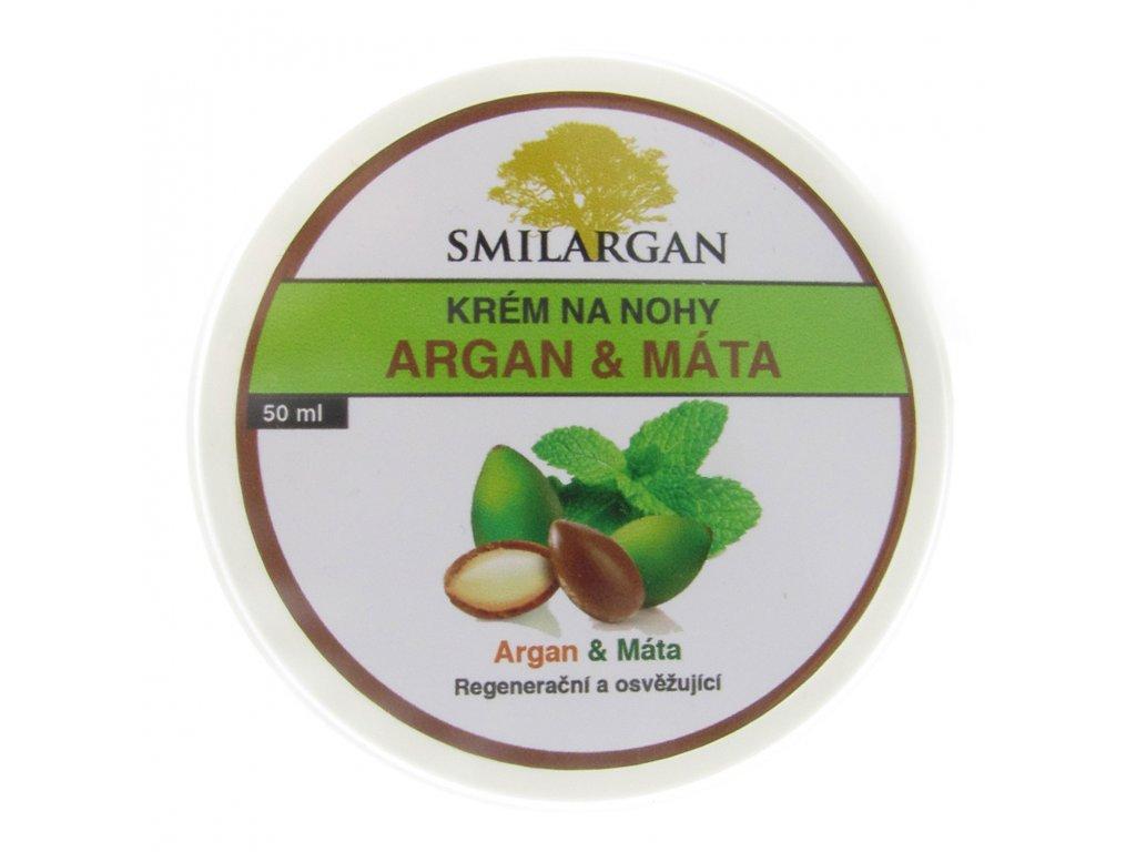 Krém na nohy s arganovým olejem a mátou 50ml