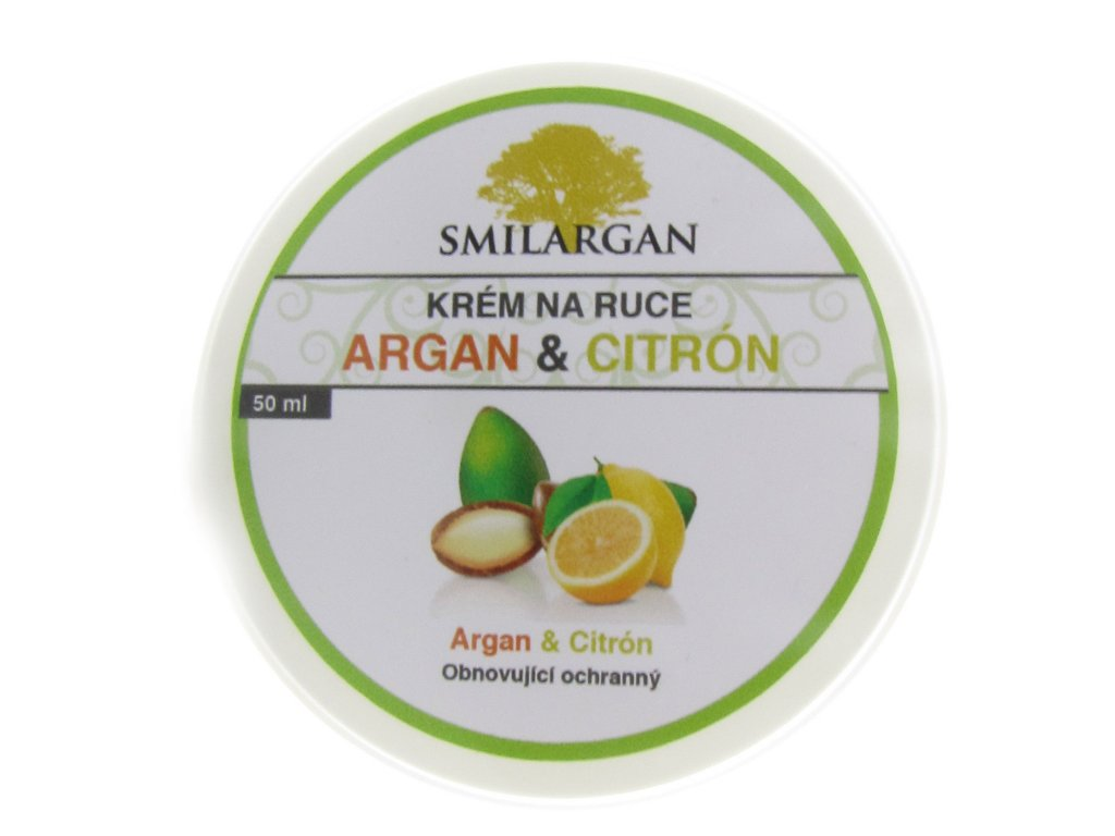 Krém na ruce s arganovým olejem a citronem 50ml