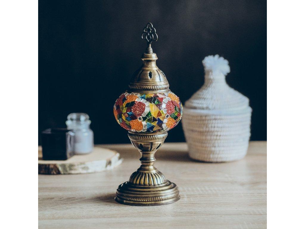 Orientální skleněná mozaiková lampa Hanife - stolní