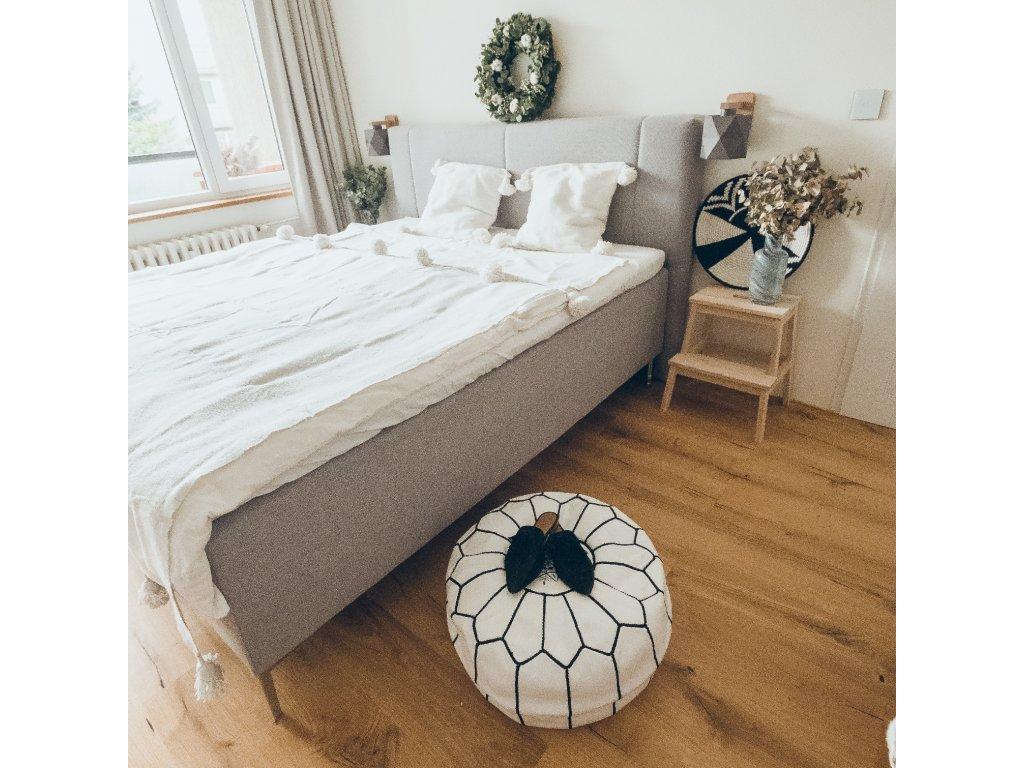 Přehoz na postel s třásněmi Blanc