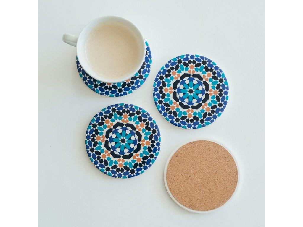 Podtácek pod nápoj Meknes - keramická - 2 kusy
