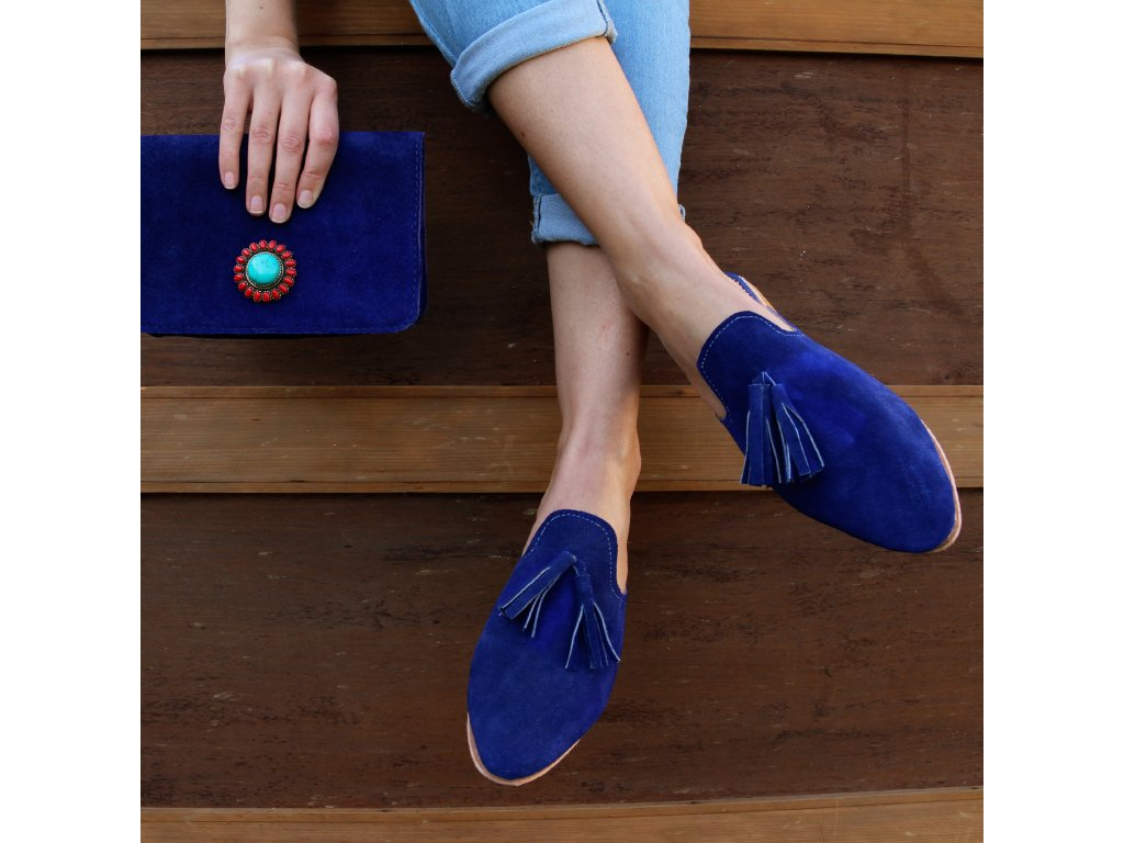 boty mules modre 01