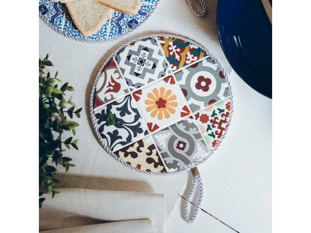 Keramická podložka pod pánev s marockým motivem - Safi