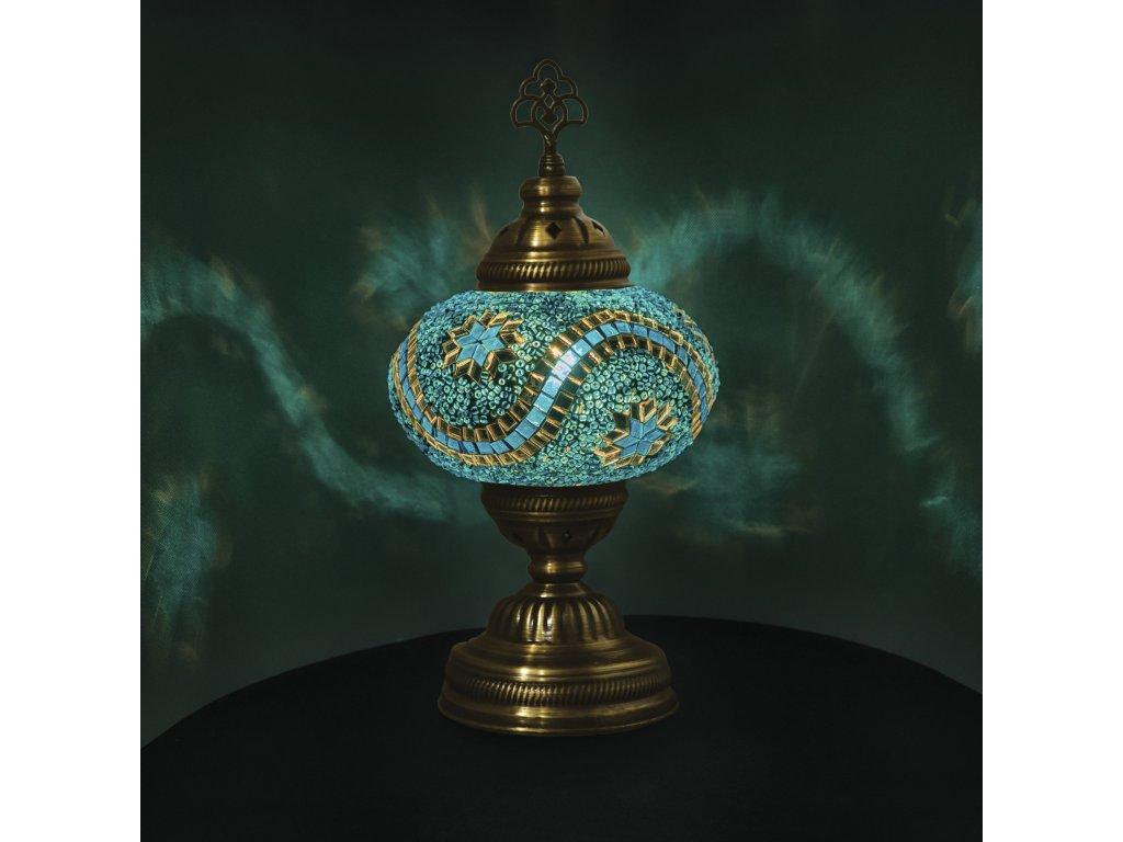 Orientální skleněná mozaiková lampa Anatolia - stolní