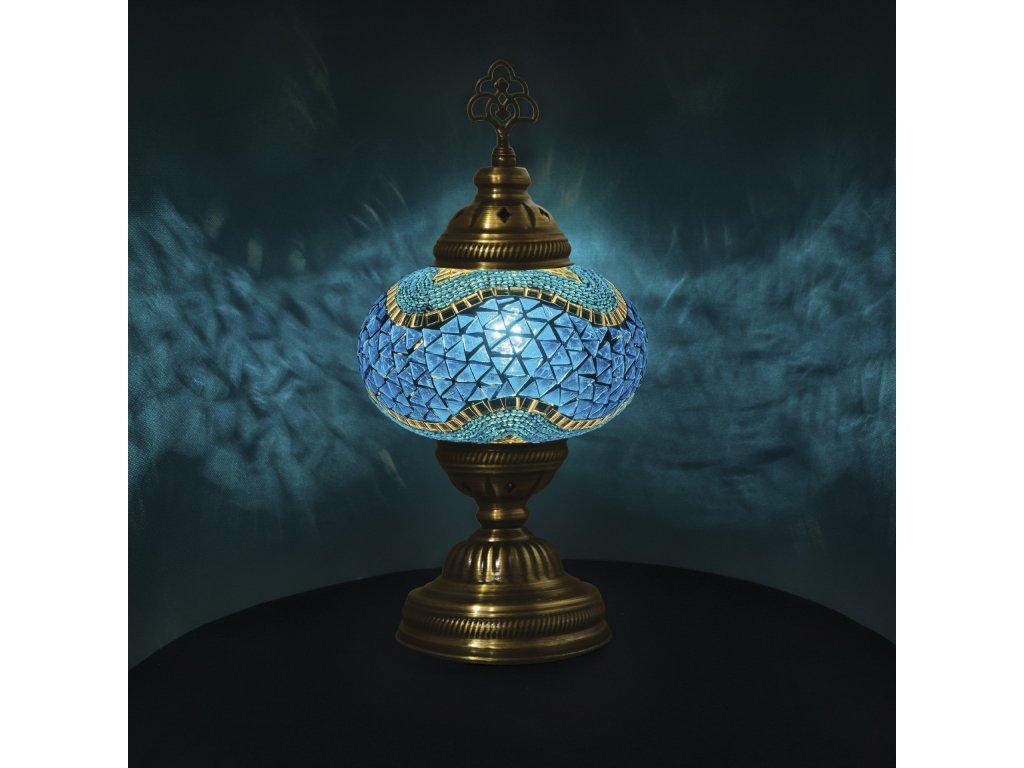 Orientální skleněná mozaiková lampa Antalya - stolní