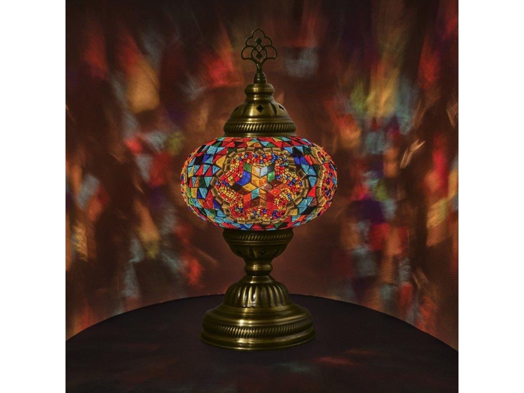 Orientální skleněná mozaiková lampa Renk - stolní