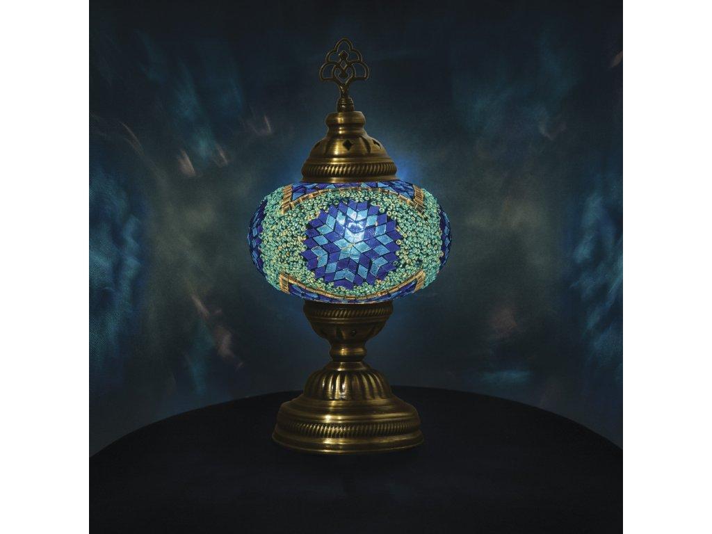 Orientální skleněná mozaiková lampa Adana - stolní