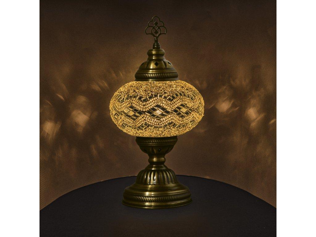 Orientální skleněná mozaiková lampa Abyad - stolní