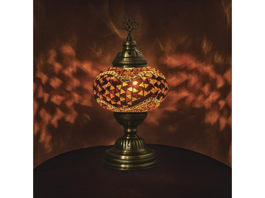 Orientální skleněná mozaiková lampa Konya - stolní