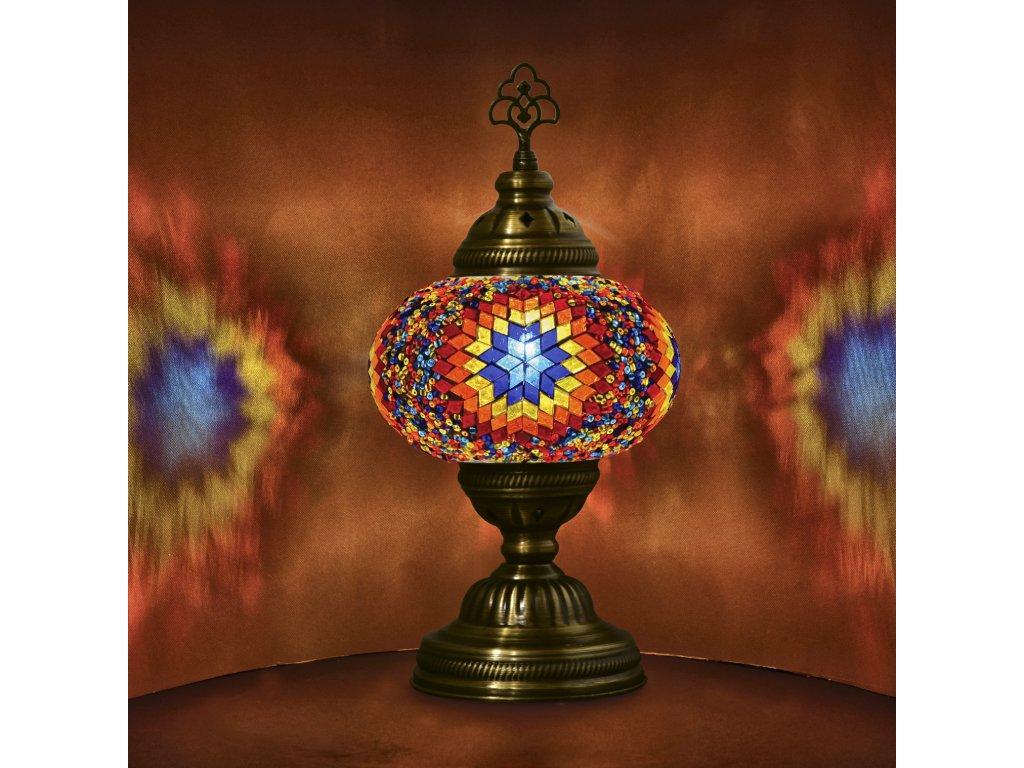 Orientální skleněná mozaiková lampa Bafra - stolní