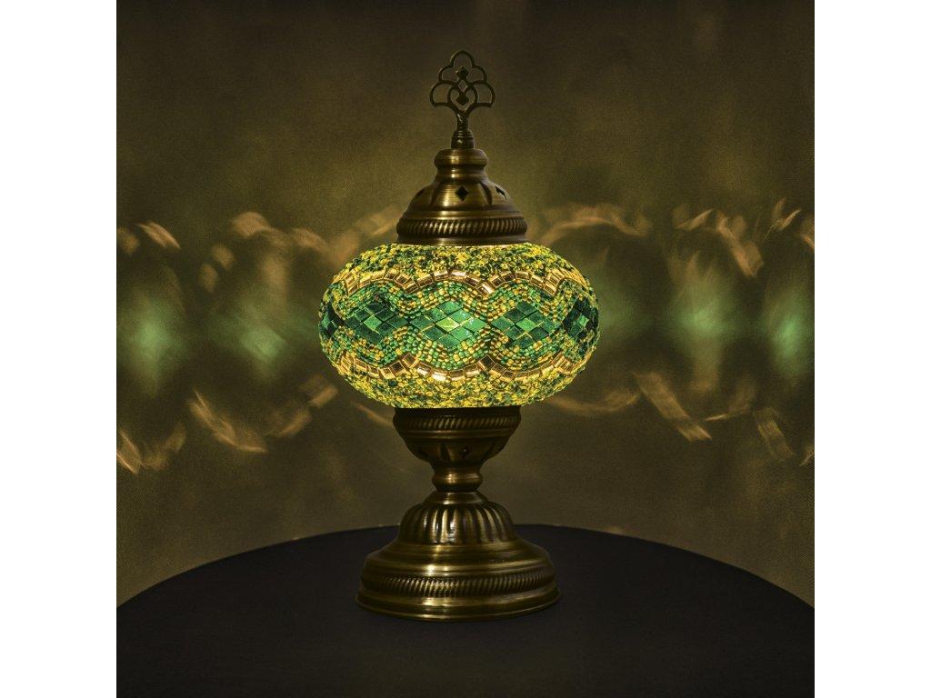 Orientální skleněná mozaiková lampa Emir - stolní