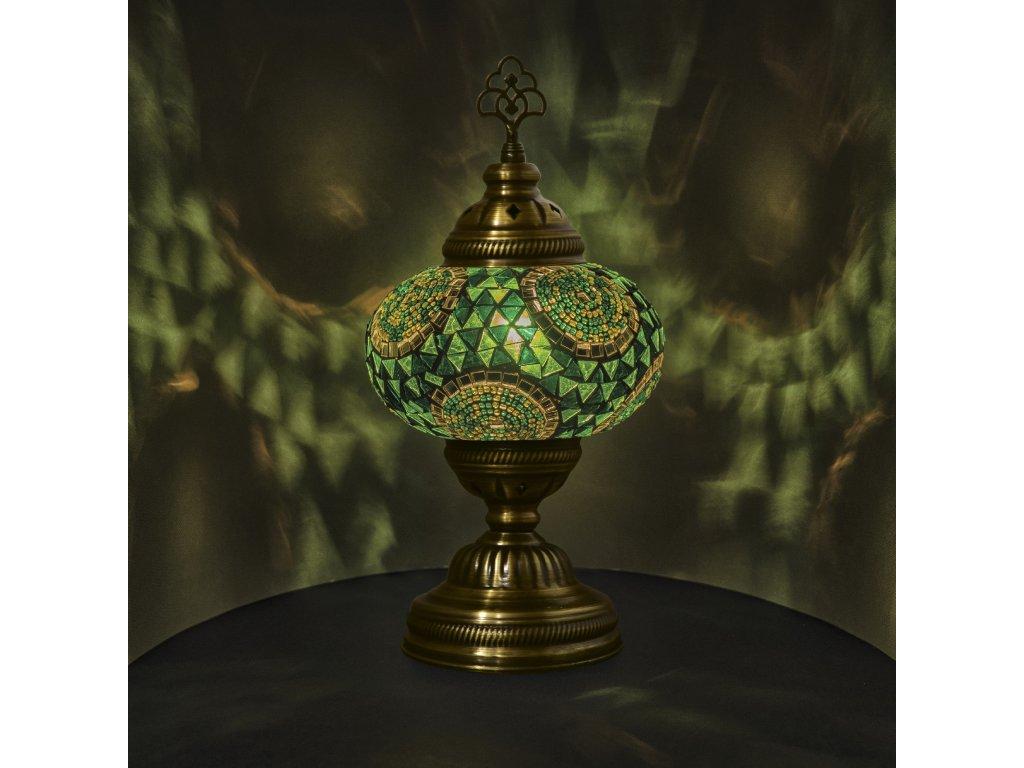 Orientální skleněná mozaiková lampa Azra - stolní