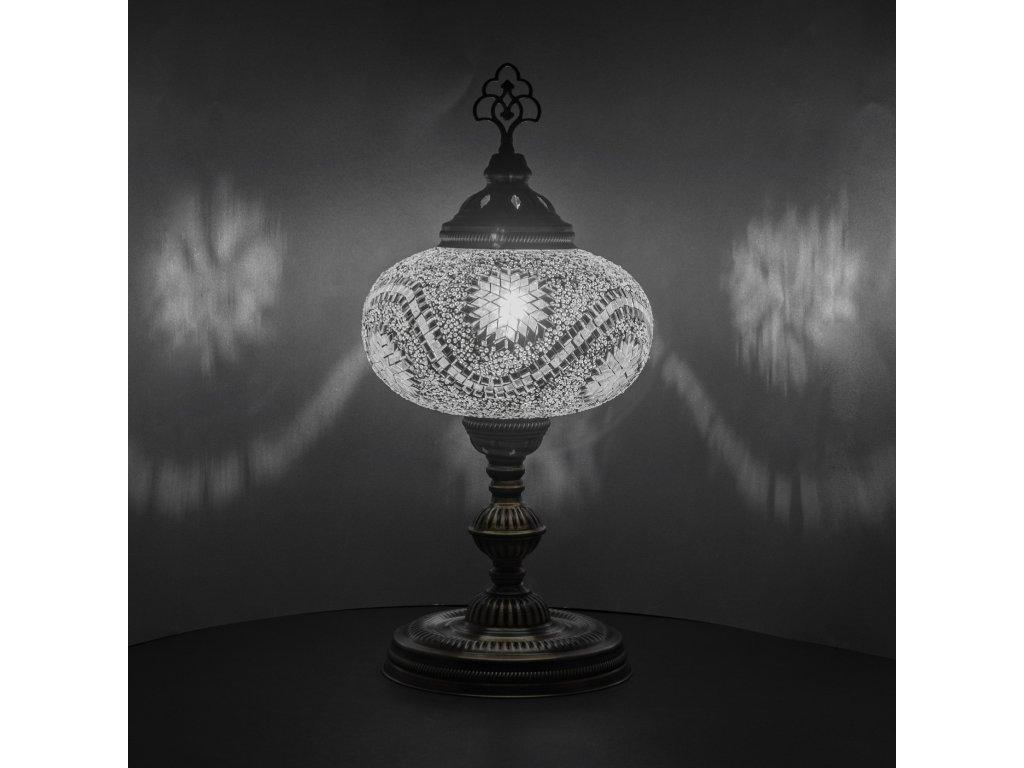 Orientální skleněná mozaiková lampa Miray - stolní