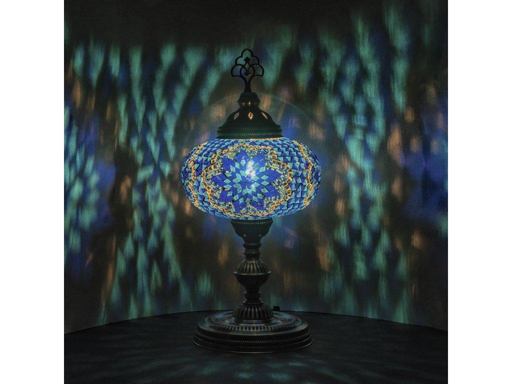 Orientální skleněná mozaiková lampa Lale - stolní