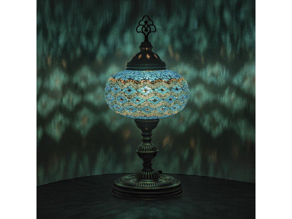 Orientální skleněná mozaiková lampa Zahra - stolní