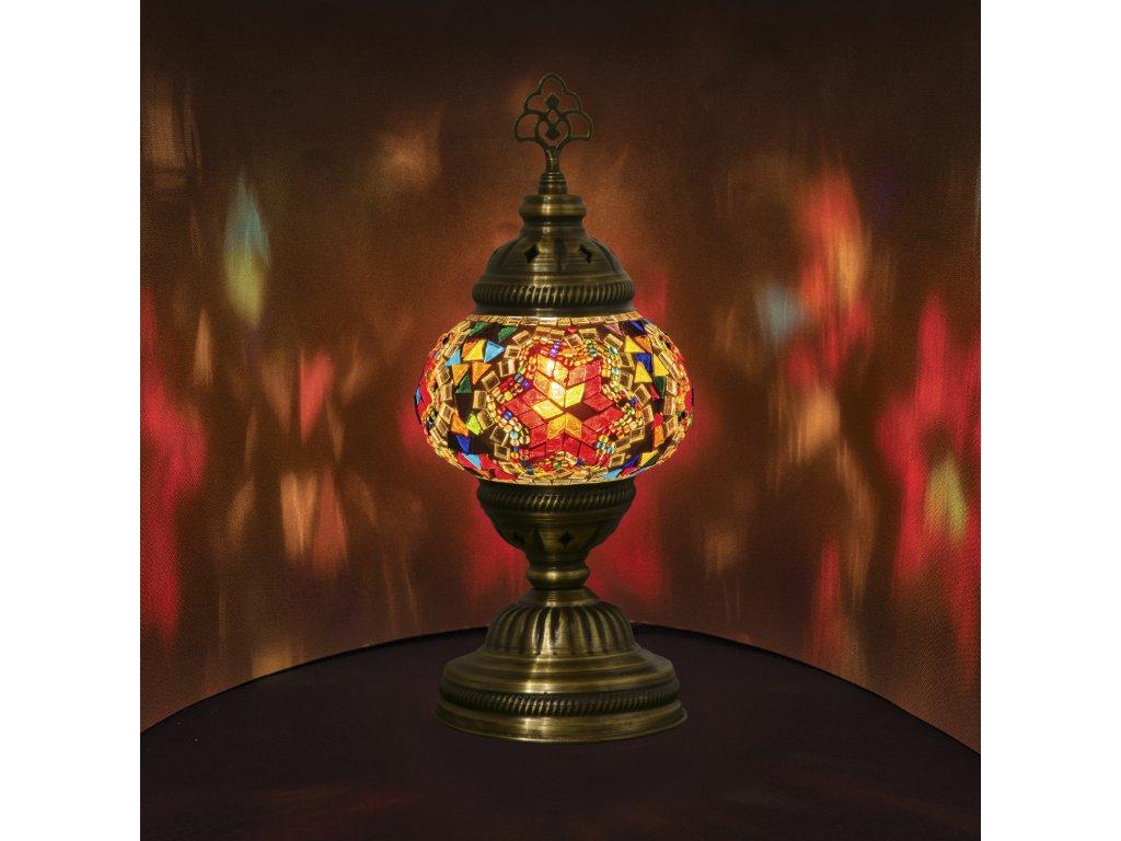 Orientální skleněná mozaiková lampa Almas - stolní