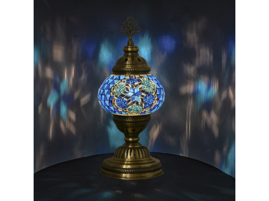 Orientální skleněná mozaiková lampa Arwa - stolní