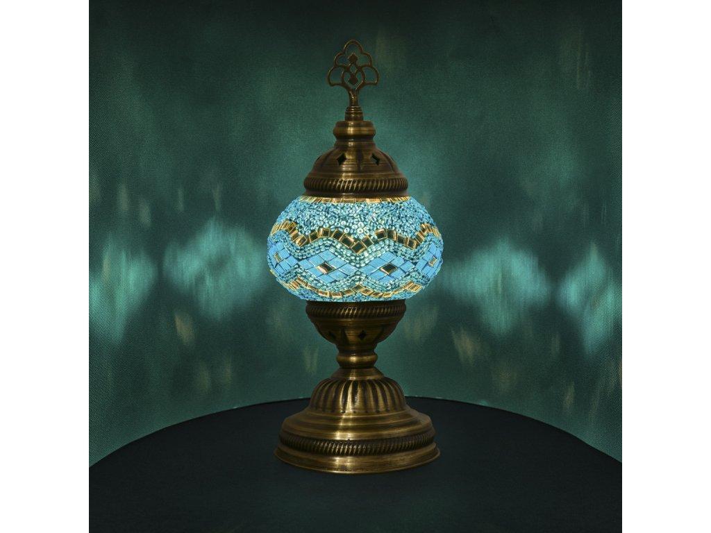 Orientální skleněná mozaiková lampa Fairuz - stolní