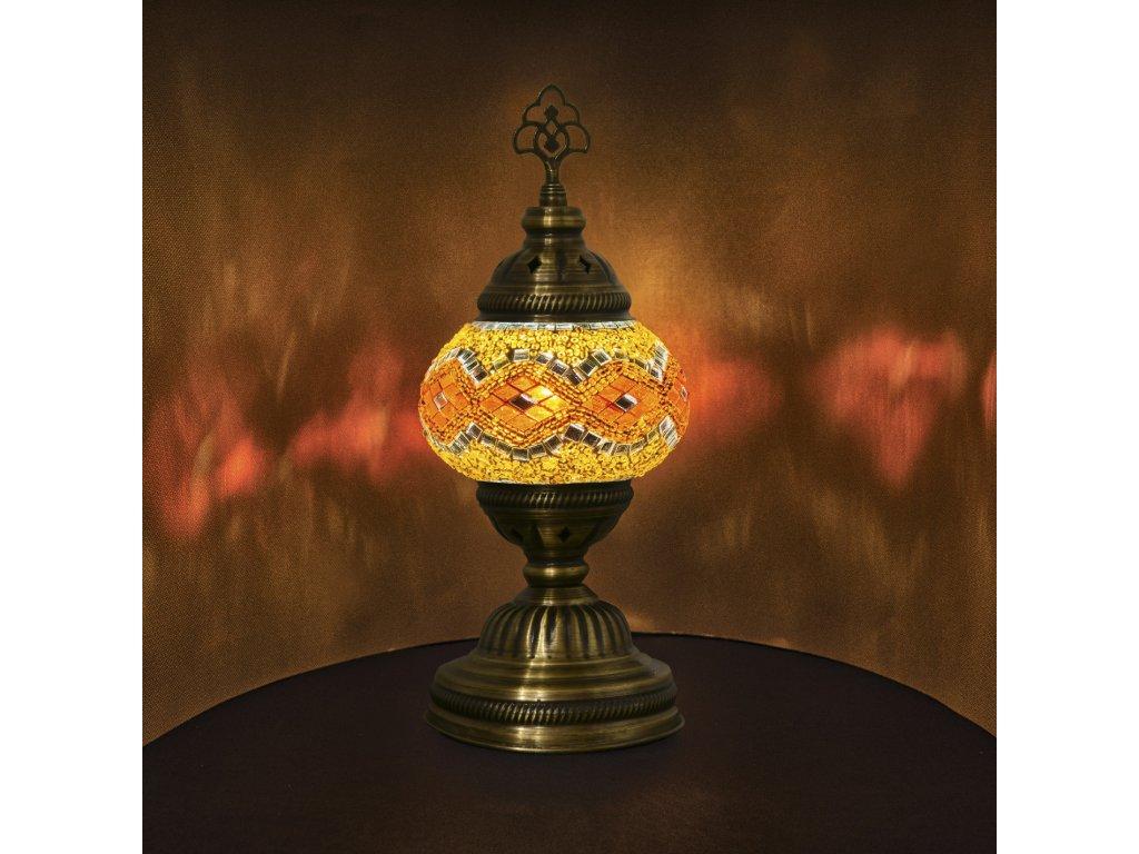 Orientální skleněná mozaiková lampa Hayfa - stolní