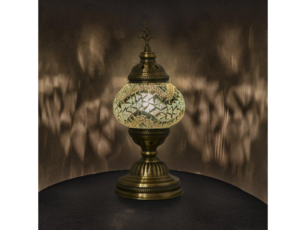 Orientální skleněná mozaiková lampa Imaan - stolní
