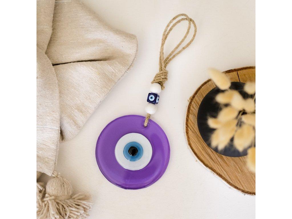 Amulet Nazar Boncugu / Evil Eye Emir - fialový