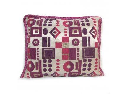 Povlak na polštář Tetouan - růžovo-fialový s geometrickými vzory