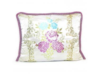Povlak na polštář Magrib - béžový s růžovými květy