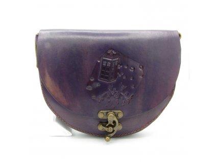 Vintage kabelka Grace - tmavě fialová