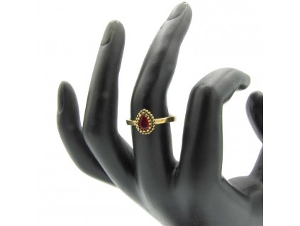 Prsten - Fatma - červený