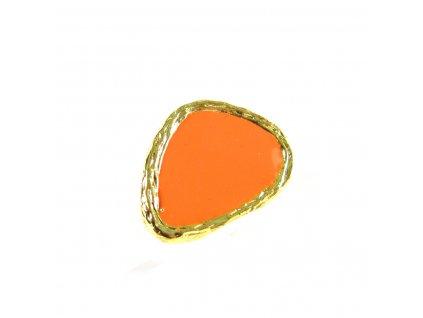 Prsten - zlato-oranžový