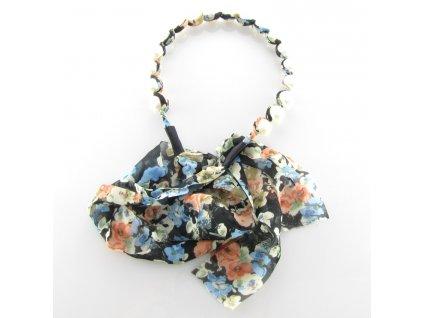 Čelenka do vlasů s perlami - Letní květina